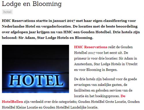 Misset Horeca – Gouden HotelBel